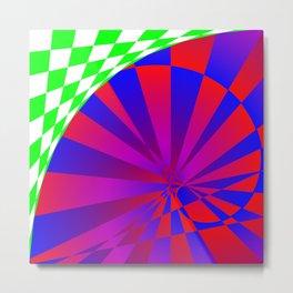 Folded Dimensions Metal Print