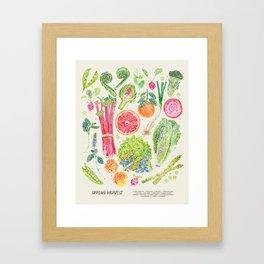 Spring Harvest - Neutral Framed Art Print