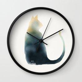 Water cat Wall Clock
