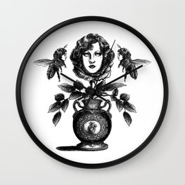 Envy is in the Eye of the Beeholder Wall Clock