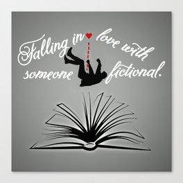 Falling Fiction (masc) Canvas Print