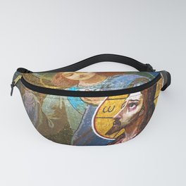 The image of Jesus Christ in a fresco -  Russia Fanny Pack