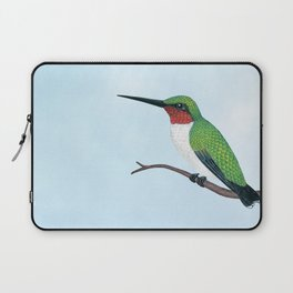 the studious male (ruby-throated hummingbird) Laptop Sleeve