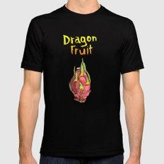 Dragon Fruit MEDIUM Black Mens Fitted Tee
