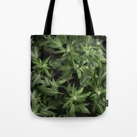 weed Tote Bags featuring Weed by Vyacheslav Sizov