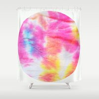 tie dye Shower Curtains featuring Tie Dye  by Lara Gurney