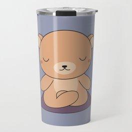 Kawaii Cute Yoga Bear Travel Mug