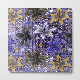 Lilies (Purple) Metal Print