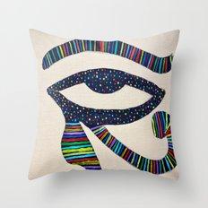 The Eye of Horus Throw Pillow
