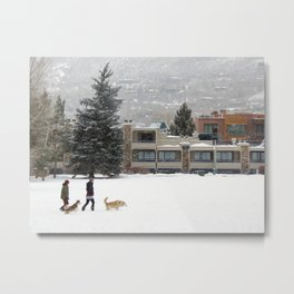 Snow Dogs I Metal Print