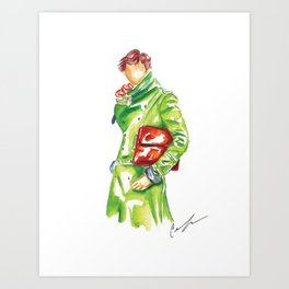 Green|Trench Art Print