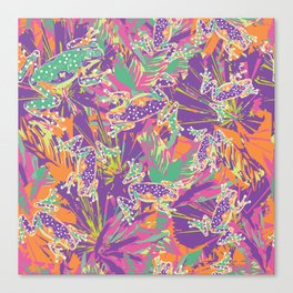 Tropical summer rainforest party Canvas Print