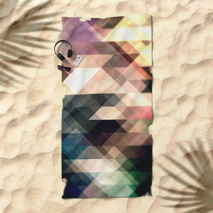 Textured Geometric Abstract Beach Towel