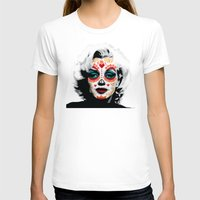 marylin monroe T-shirts featuring Marylin de los Muertos 1 by jazzyjules63