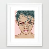 swim Framed Art Prints featuring SWIM by Laura O'Connor