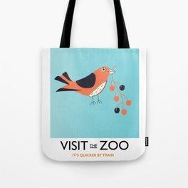 visit the zoo bird Tote Bag