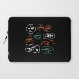 Love To Travel Stamps Laptop Sleeve