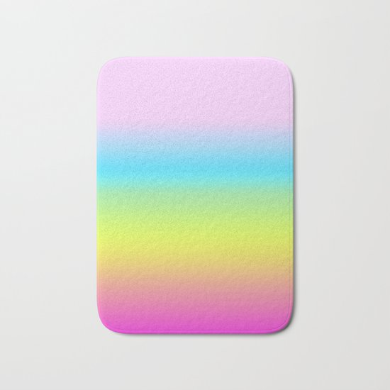Rainbow Gradient Bath Mat