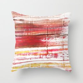 Lavender blush abstract watercolor Throw Pillow