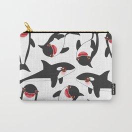 Cartoon grampus orca, killer whale, sea wolf Kawaii Carry-All Pouch