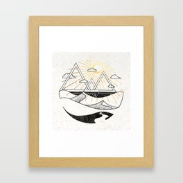 Triangle Dunes Inktober :: Destiny Laced Beneath The Deserts Framed Art Print