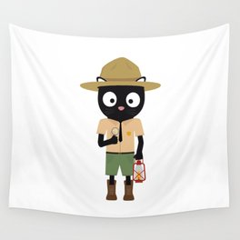 Park Ranger Cat with uniform Wall Tapestry