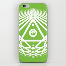 Radiant Abundance (green-white) iPhone Skin