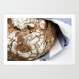 Clay Pot Baked Bread with Cranberries Art Print