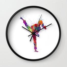 Karete Girl Colorful Watercolor Art Wall Clock