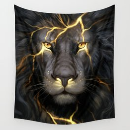 LION-GOLD-ART Wall Tapestry