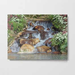 Water feature at Sea World Metal Print
