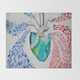 Heartbeats Throw Blanket