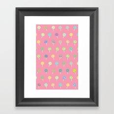 Cute Lollipop Pattern Framed Art Print