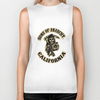 sons of anarchy Biker Tanks featuring Sons of anarchy Motorcycle club by OverClocked