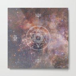 Sacred Geometry Universe 2 Metal Print