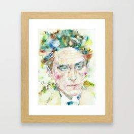 JEAN COCTEAU - watercolor portrait.2 Framed Art Print