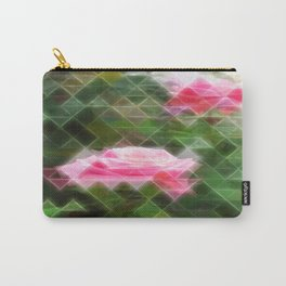 Pink Roses in Anzures 5 Art Triangles 2 Carry-All Pouch