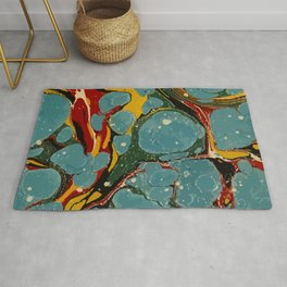 Vintage Abstract Art Texture Marble Rug