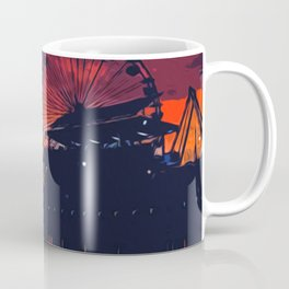 Sunset in Santa Monica, California Coffee Mug