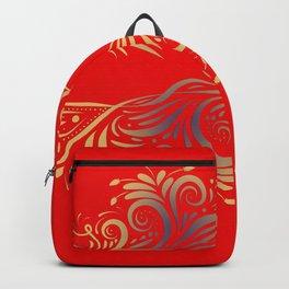 Scarlet, national pattern Backpack