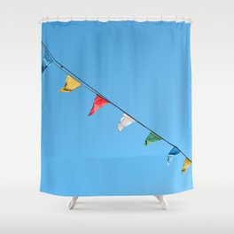 Colorful and minimal party Shower Curtain