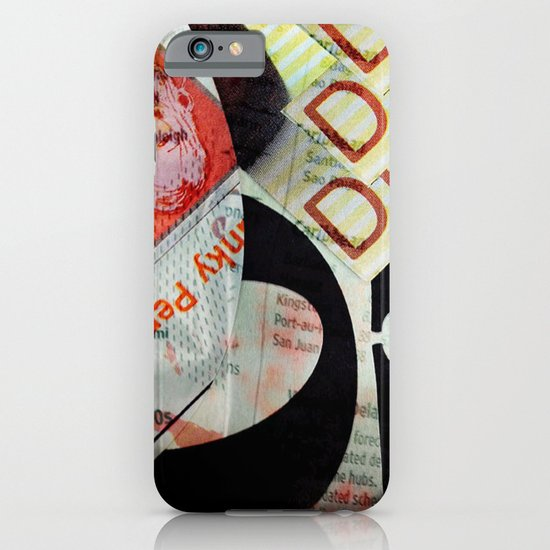 Abstract Newspaper iPhone & iPod Case