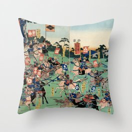 Battle of Kawanakajima Throw Pillow