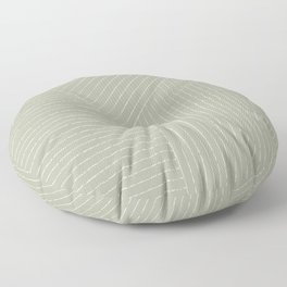 Lines (Linen Sage) Floor Pillow