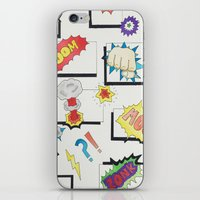 comic book iPhone & iPod Skins featuring Comic Book by michaelrosen