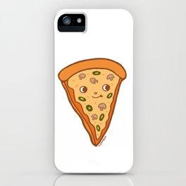 Veggie Pizza Slice - cute mushroom and olive vegetarian slice iPhone Case