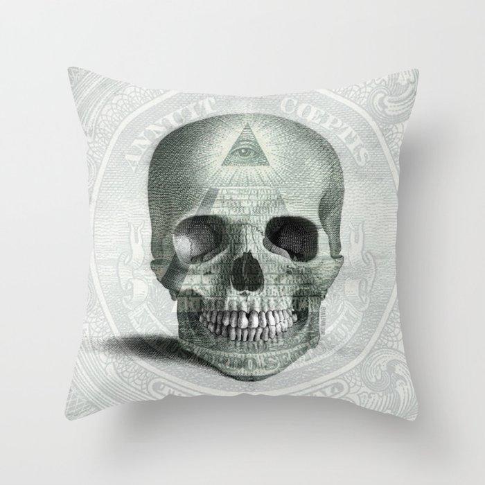 Eye on the Skull Throw Pillow