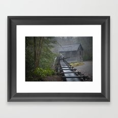 An Old Mill in the Smokey Mountains Framed Art Print