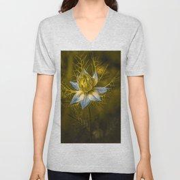 Dancing elves and Cosmos bipinnatus  Unisex V-Neck