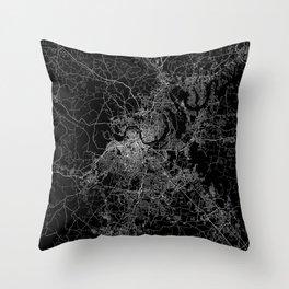 nashville map Throw Pillow